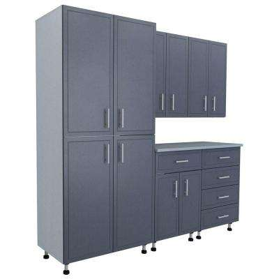 80.5 in. x 84 in. x 21 in. ProGarage Basic Storage Systems in Gray (6-Piece)