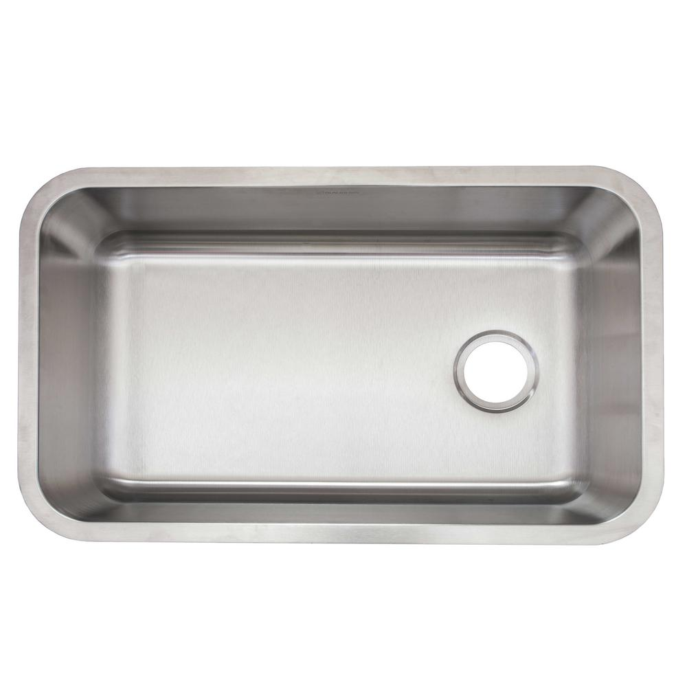 Glacier Bay Undermount Stainless Steel 30 In Single Bowl Kitchen Sink With Drain And Grid