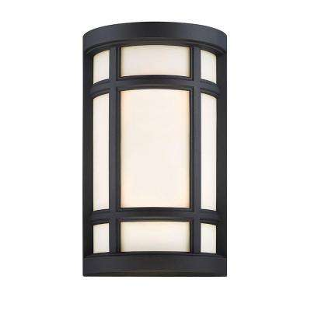 Logan Square 2-Light Black Interior/Outdoor Incandescent Bath Vanity Light