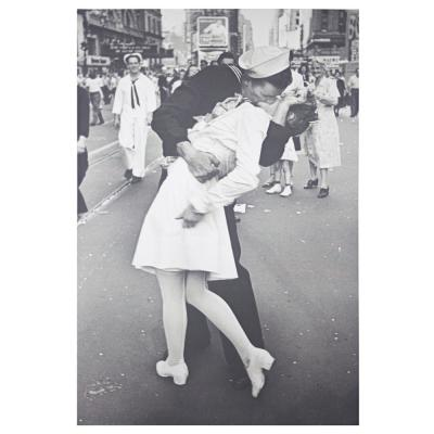 Licensed Kissing on VJ Day Times Square by Alfred Eisenstaedt Wrapped Canvas Wall Art