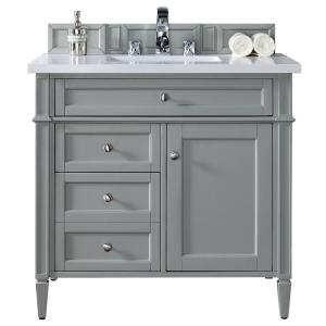 James Martin Signature Vanities Brittany 36 inch W Single Vanity in Urban Gray with Quartz... by James Martin Signature Vanities