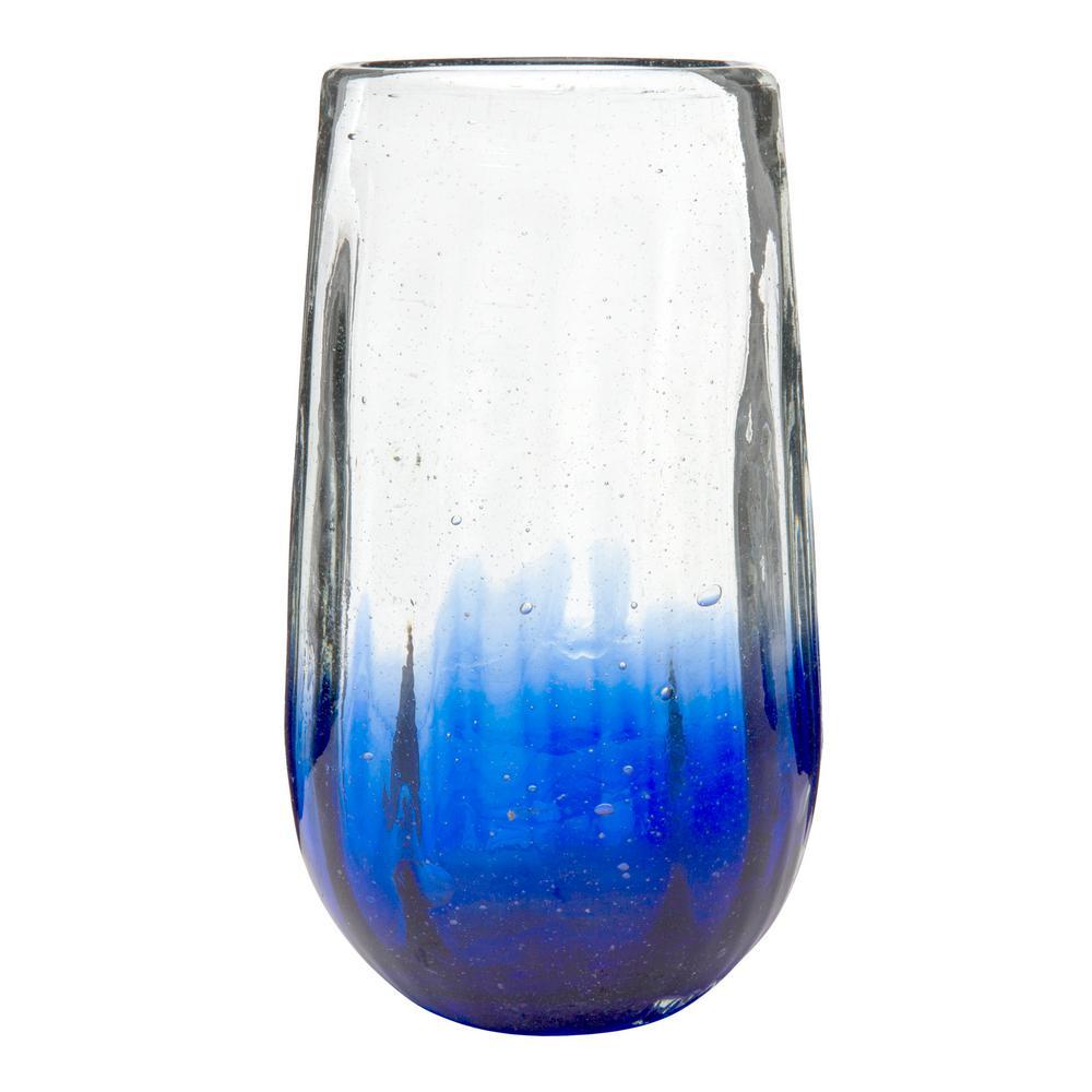 Amici Home Rosa 20 oz. 6-Piece Cobalt Glass Hiball Drinkware Set