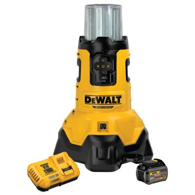 20-Volt MAX Lithium-Ion Corded/Cordless LED Jobsite Light with Tool Connect w/ FLEXVOLT 20V/60V Battery 6Ah and Charger