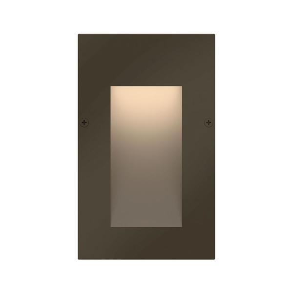 Taper Low-Voltage Bronze Integrated LED Vertical Stair Light