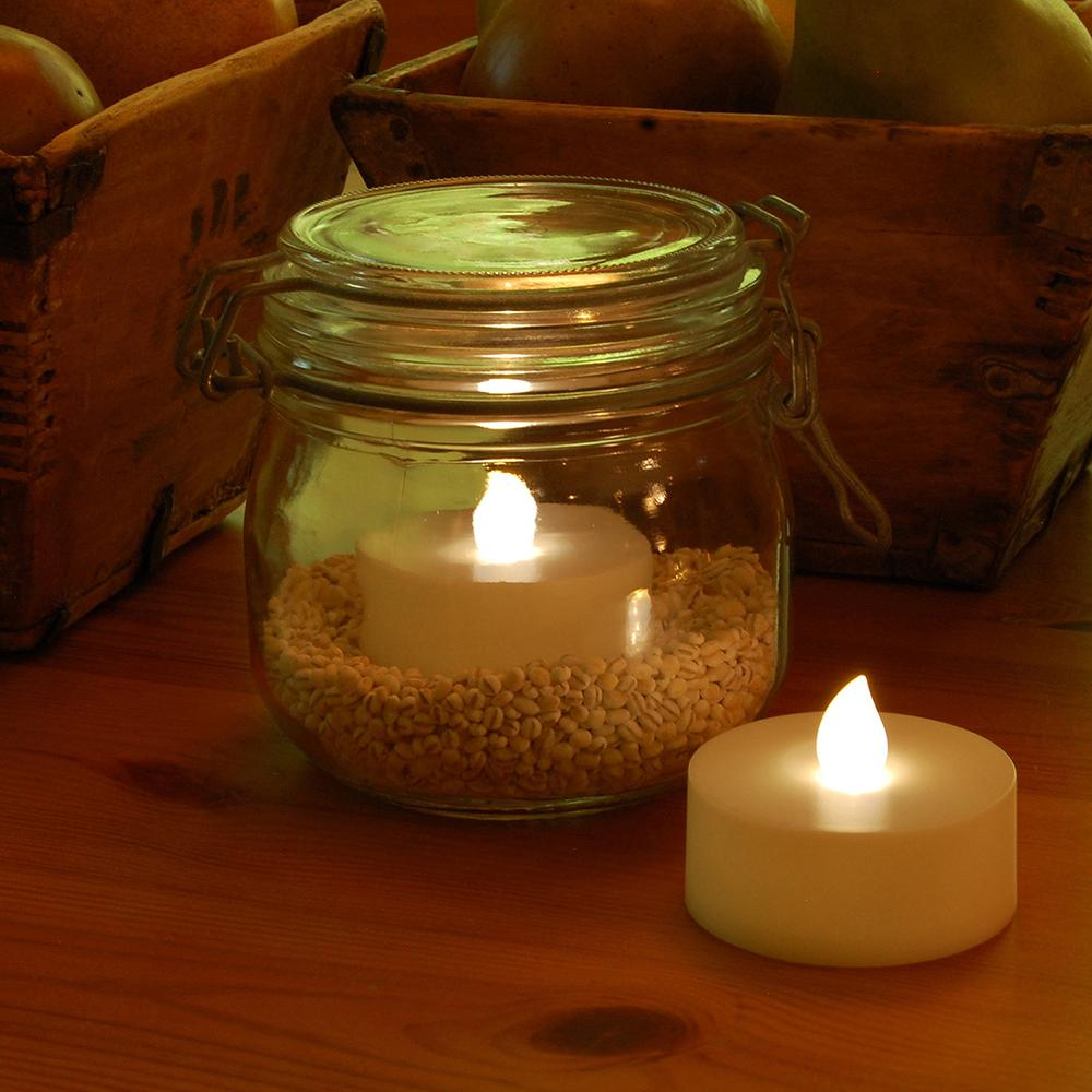 Battery Operated Extra Large Tea Lights with Remote Control and 2