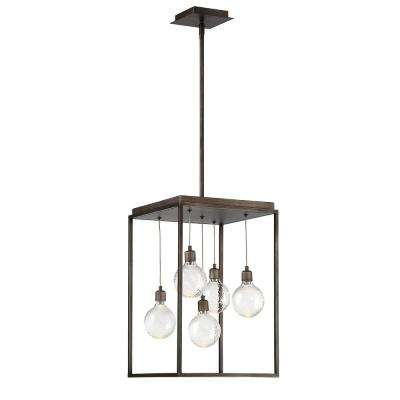 Zarina 9-Watt Bronze Integrated LED Chandelier