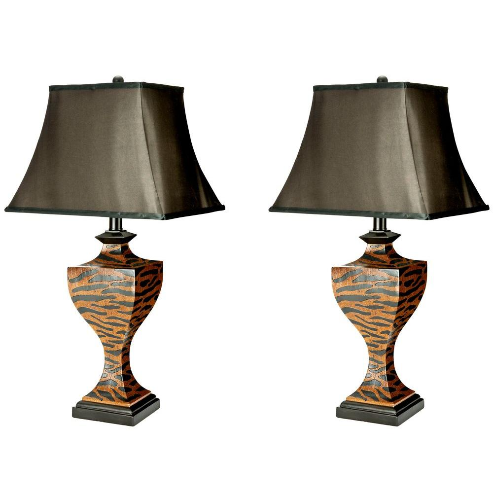 Safavieh Sahara 32.5 in. Black Satin Shade Safari Lamp (S...