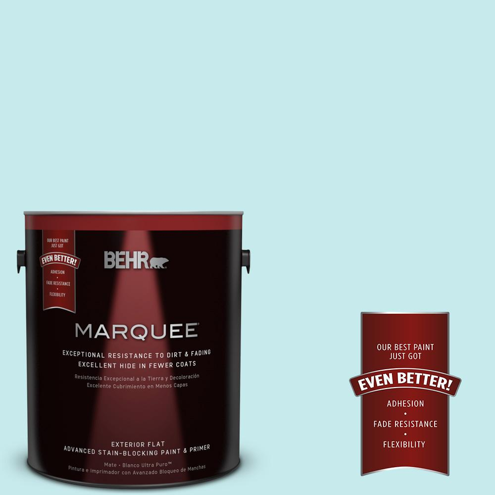 1-gal. #P460-1 Morning Sky Flat Exterior Paint