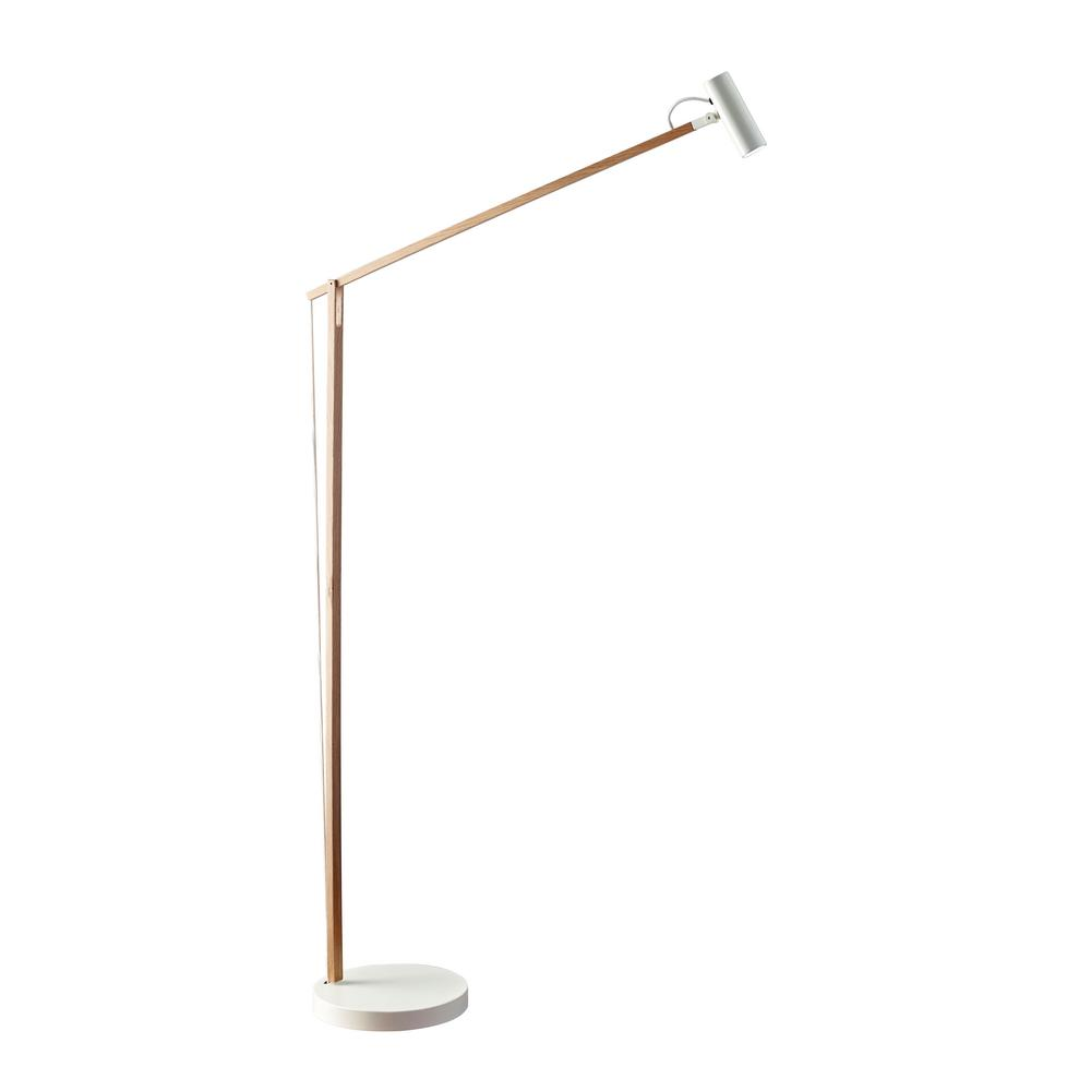 Adesso ads360 crane 605 in integrated led white wood floor lamp integrated led white wood floor lamp aloadofball Images