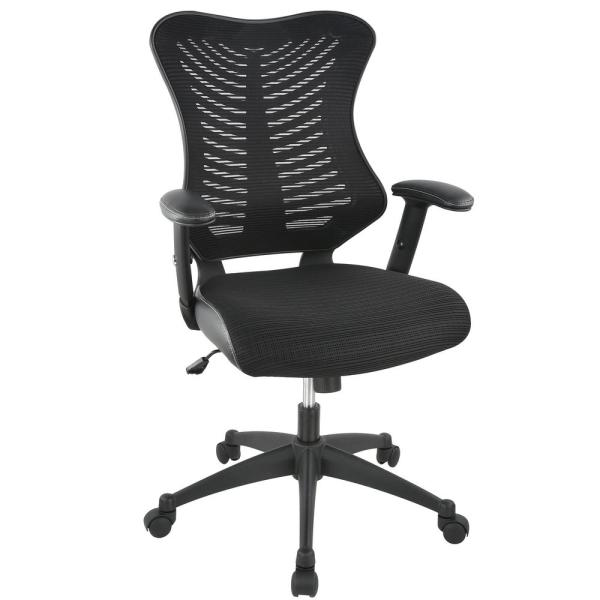 Poly and Bark Correna Black Office Chair in Mesh