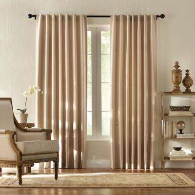 Textured Thermal Room Darkening Window Panel in Taupe - 42 in. W x 84 in. L
