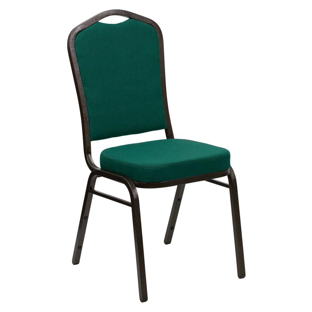 Flash Furniture Green Fabric/Gold Vein Frame Stack Chair CGA-FD-9047-GR-HD