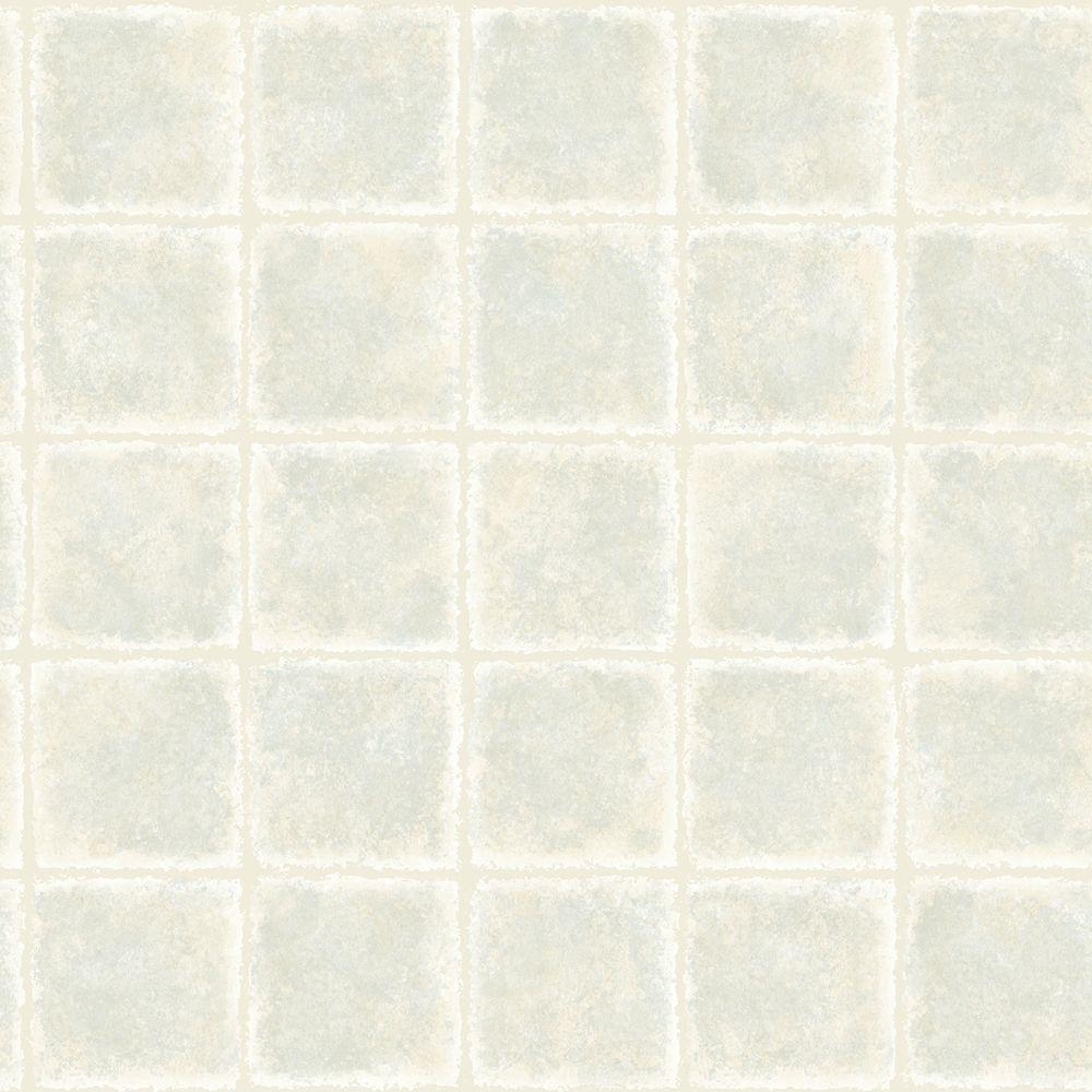 Chesapeake Gold Leaf Blue Tile Texture Wallpaper Sample MEA79032SAM