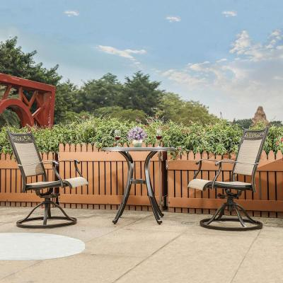 2-Piece Bistro Swivel Rocker Chairs Outdoor Patio Garden Furniture with 360 Degree Rotating and Heavy-Duty Frame