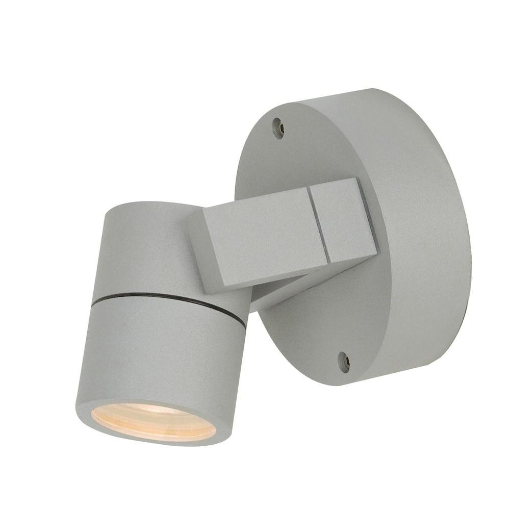 Access Lighting 1-Light Satin Outdoor Spotlight with Clear Glass