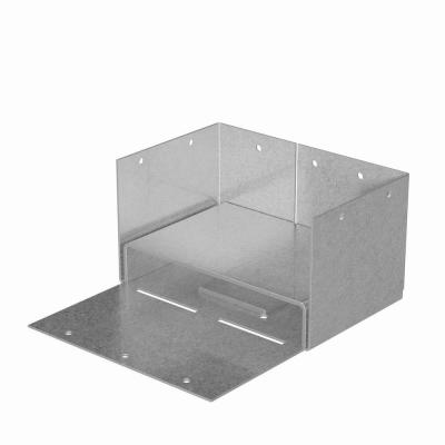 ABW ZMAX Galvanized Adjustable Standoff Post Base for 4x6 Nominal Lumber