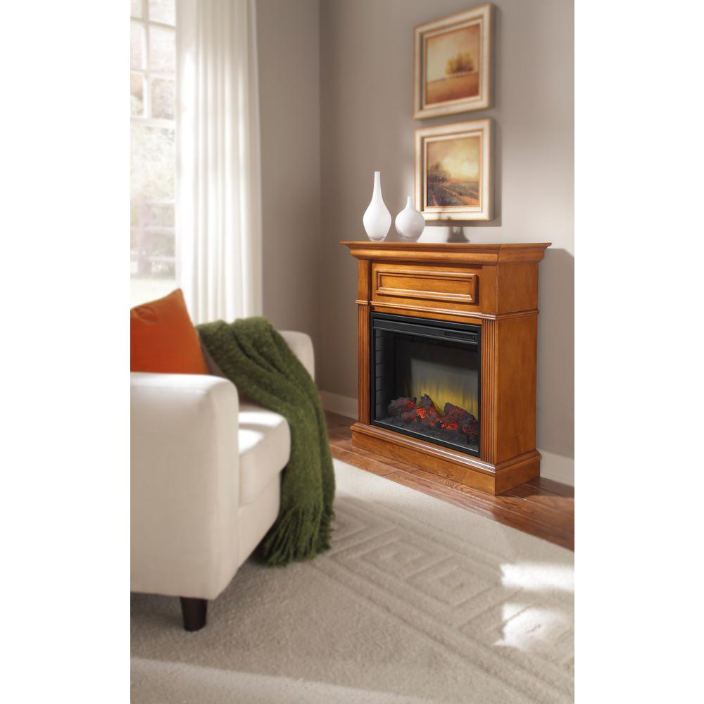Pleasant Hearth Hawthorne Heritage 34 in. Electric Fireplace in Walnut