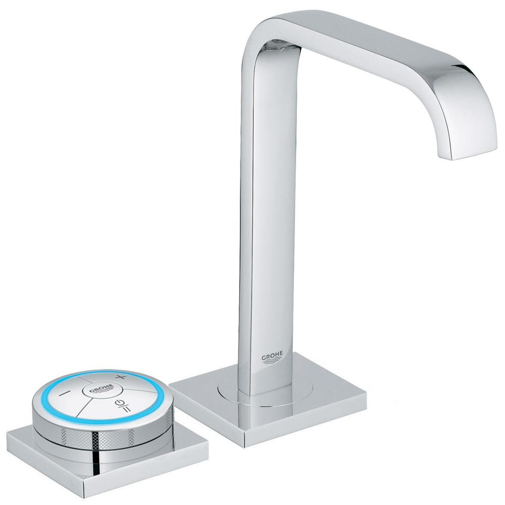 Attirant GROHE Allure F Digital AC Powered Single Hole Touchless Bathroom Faucet In  StarLight Chrome