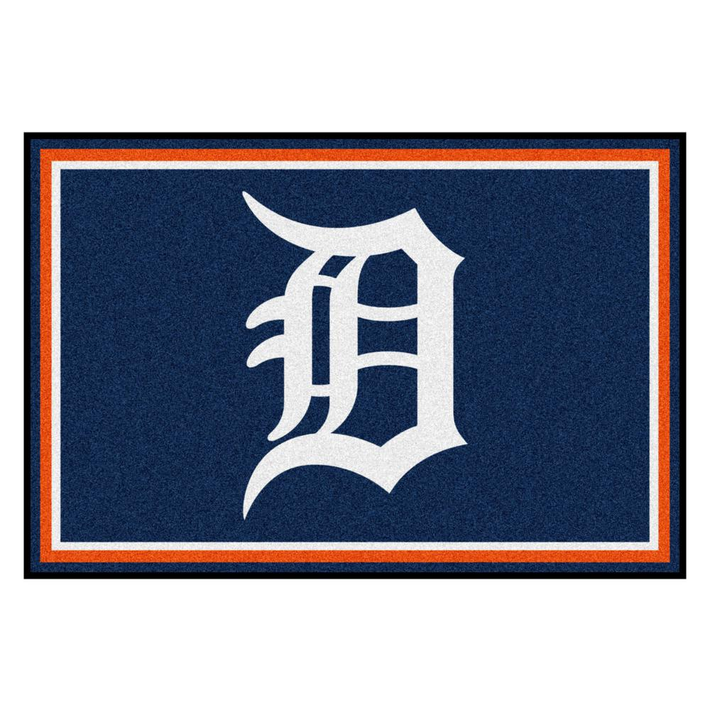 Fanmats Detroit Tigers 5 Ft X 8 Ft Area Rug 7058 The Home Depot
