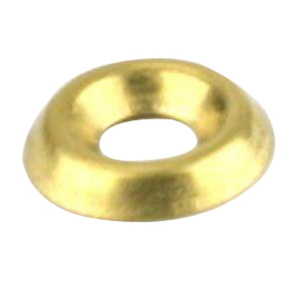 Everbilt #12 Brass Finishing Washers (3-Pack)