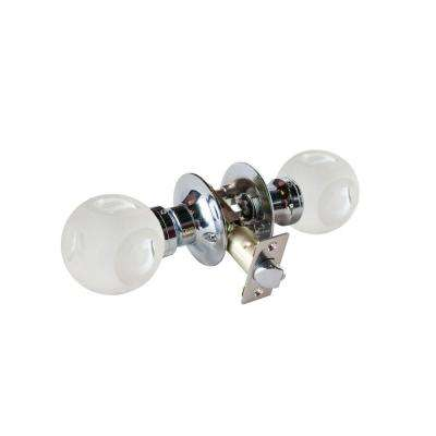 Abc Frosted Crystal Chrome Passive Door Knob with LED Mixing Lighting Touch Activated