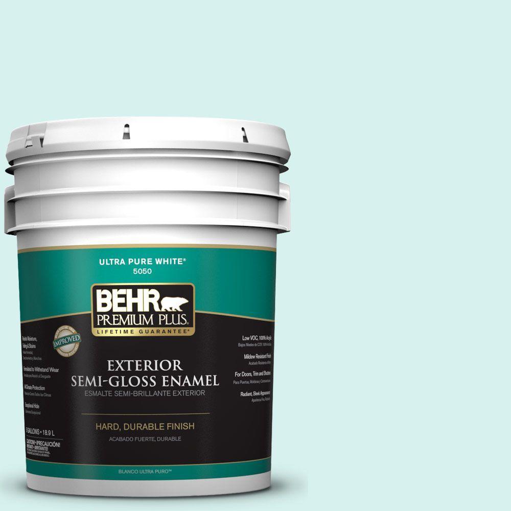 5-gal. #P450-1 Sea Ice Semi-Gloss Enamel Exterior Paint