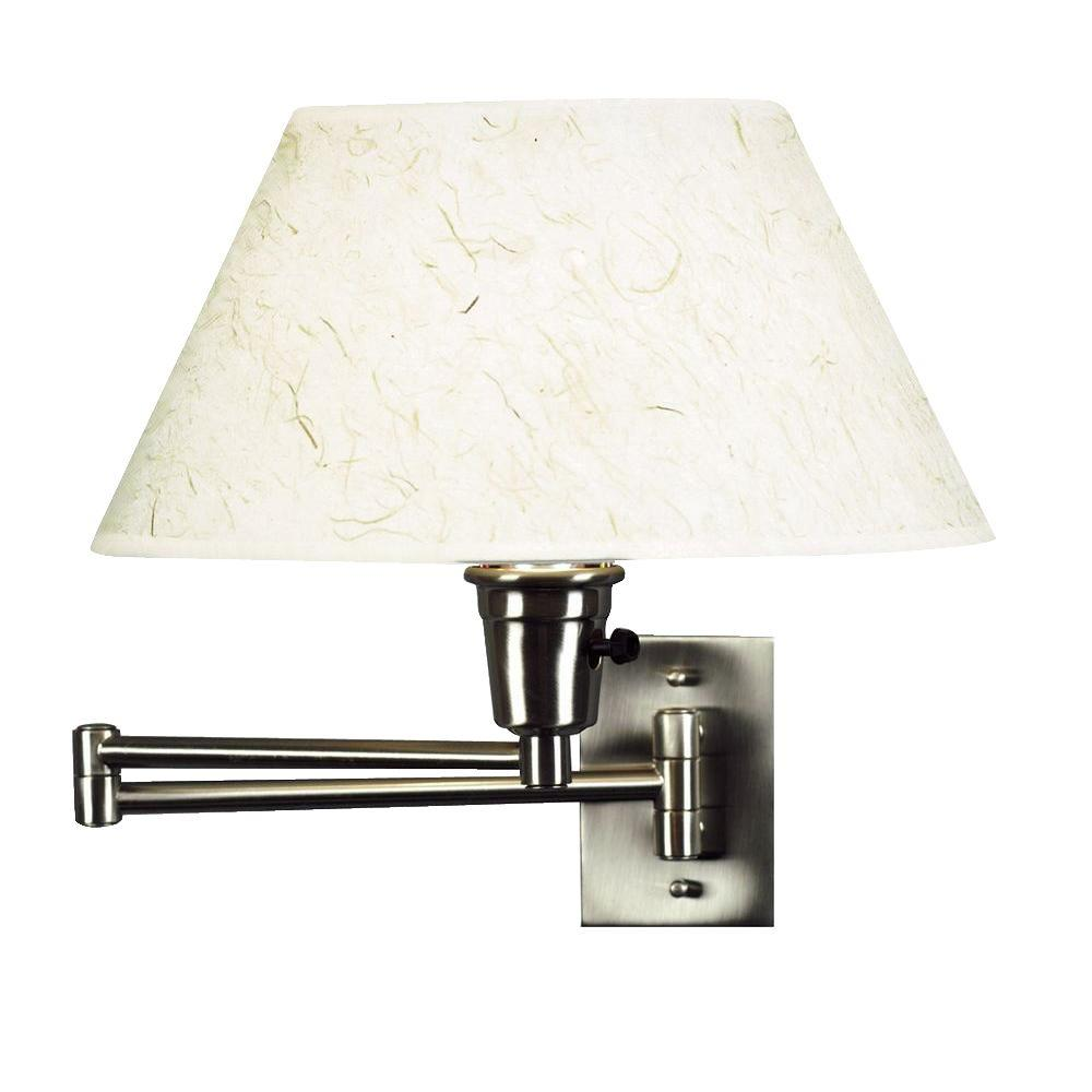 Target Wall Lamps: Simplicity 1-Light Brushed Steel Wall Swing Arm-30110BS