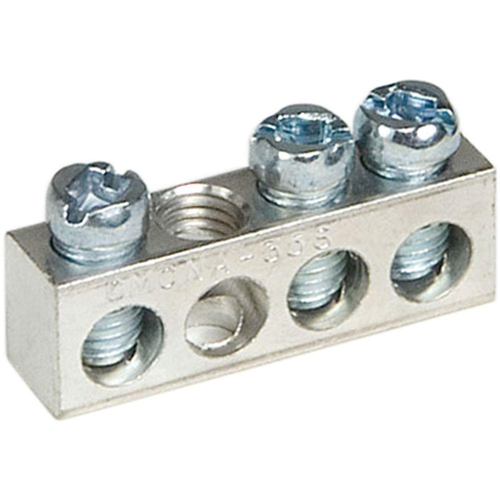 Square D 3 Terminal Ground Bar Kit Pk3gta1cp The Home Depot Rh Homedepot Com Burndy Grounding Lugs Two Hole 4 0 Lug