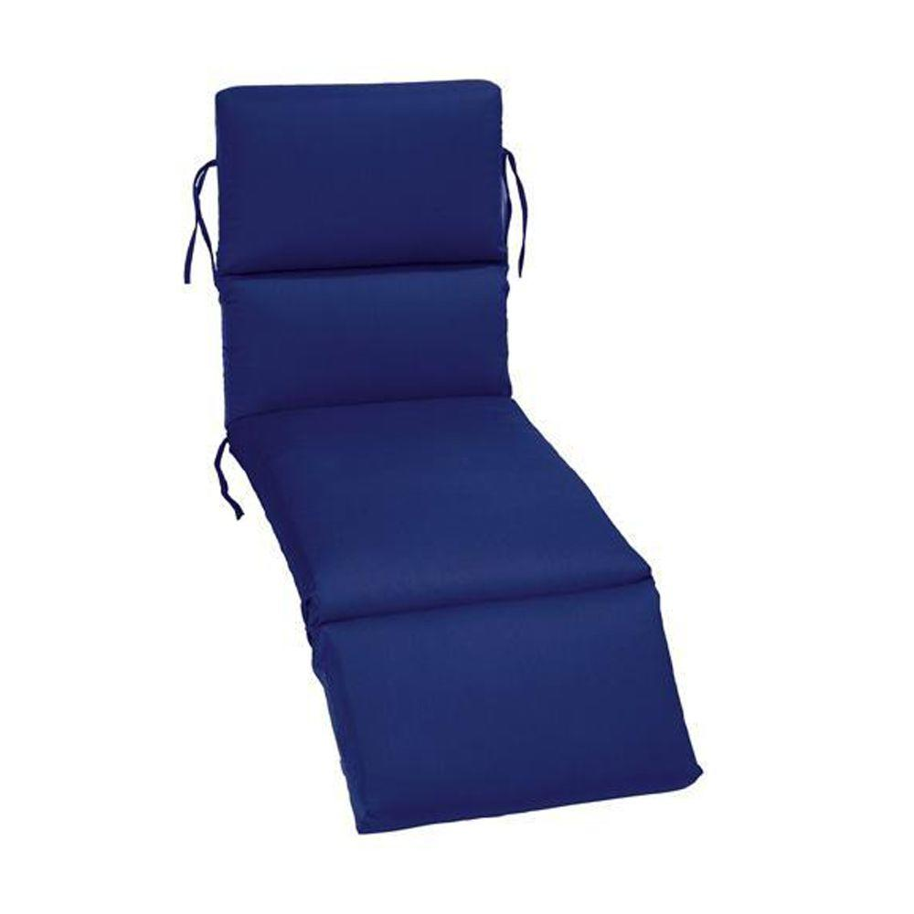 Home Decorators Collection Sunbrella Blue Outdoor Chaise Lounge Cushion