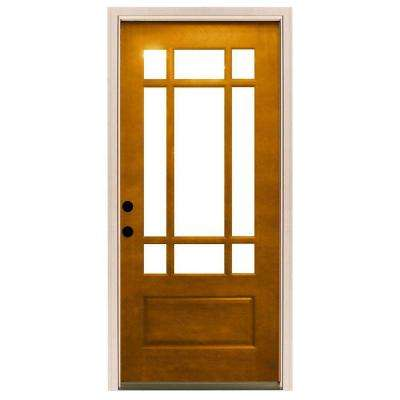 32 X 80 Light Brown Wood 1 Panel Front Doors Exterior Doors