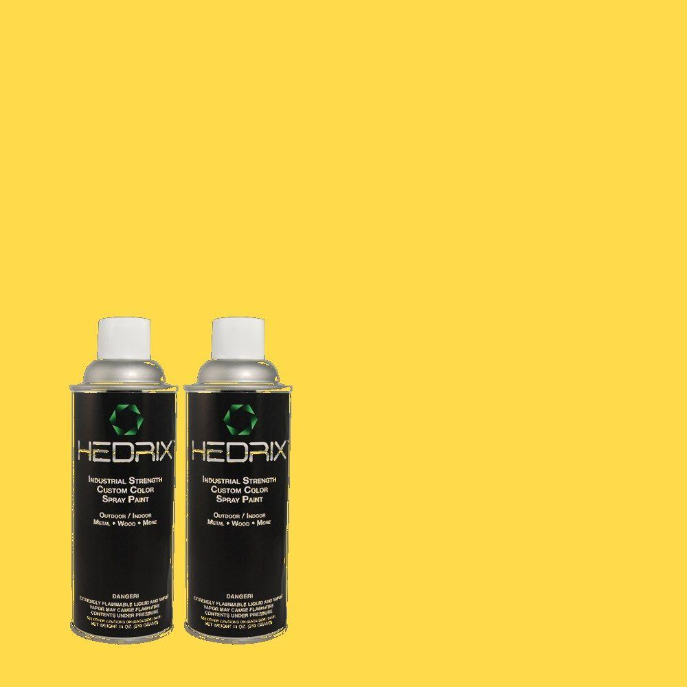 Hedrix 11 oz. Match of 1B2-6 Bright Papaya Semi-Gloss Custom Spray Paint (2-Pack)