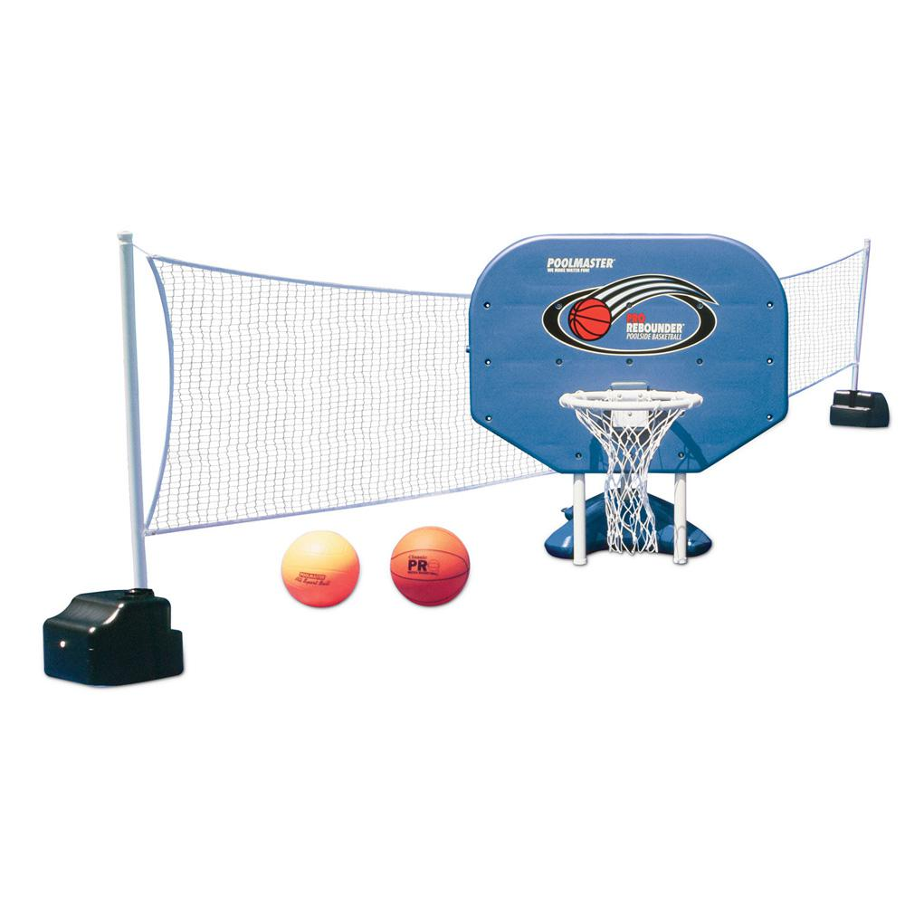 Pro Rebounder Poolside Basketball Game and Volleyball Game Pool Toy Combo