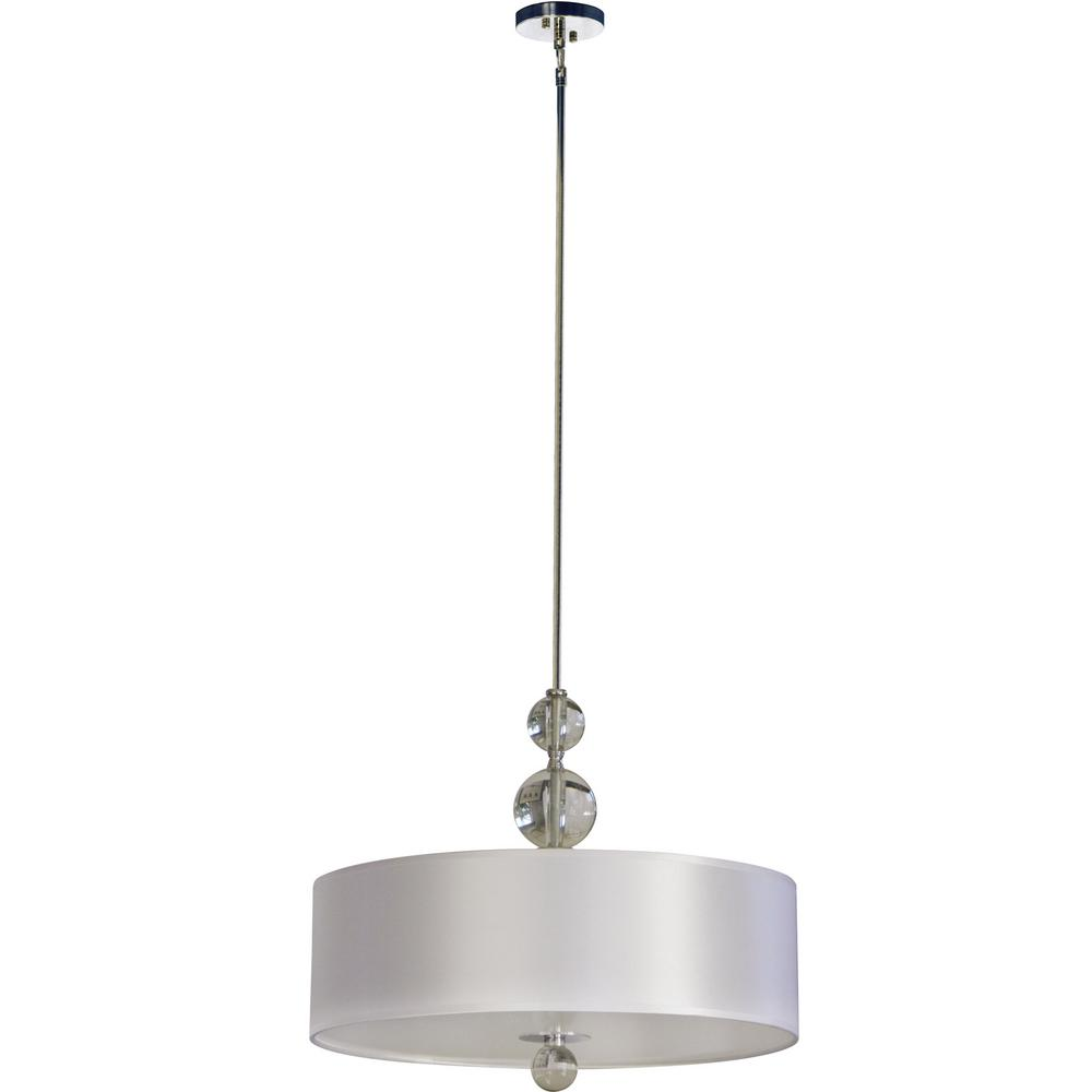 Aurora lighting 3 light chrome chandelier with pristine white fabric aurora lighting 3 light chrome chandelier with pristine white fabric shade arubaitofo Image collections