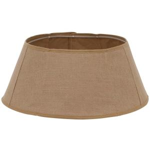 Holiday Traditions 11 in. x 26 in. Burlap Tree Stand Collar in Tan