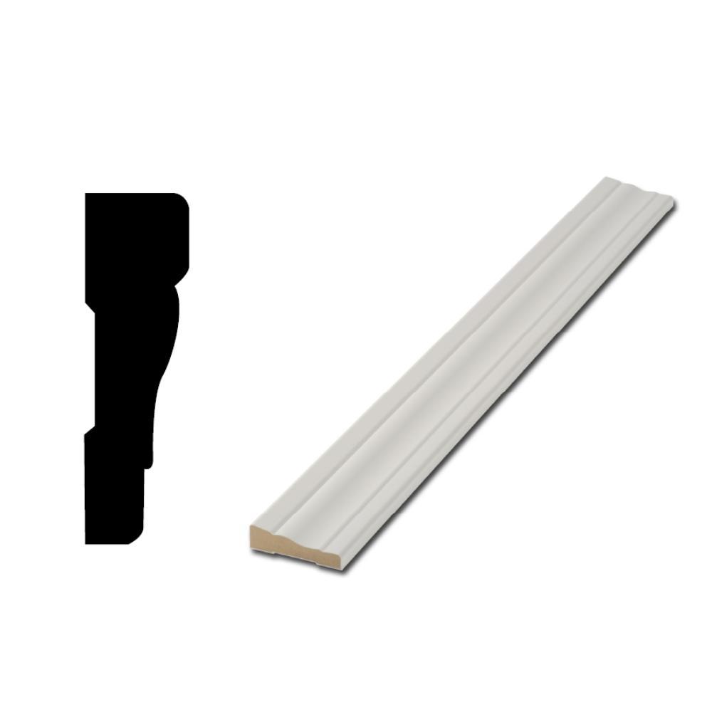 Woodgrain Millwork Woodgrain Millwork WM 356 11/16 in. x 2-1/4 in. Primed Finger-Jointed Casing Door (5-Pack), White