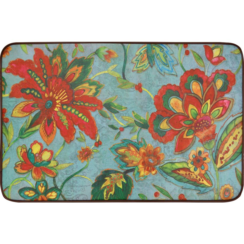 Home Dynamix Designer Chef Modern Blooms 24 In. X 36 In. Anti Fatigue
