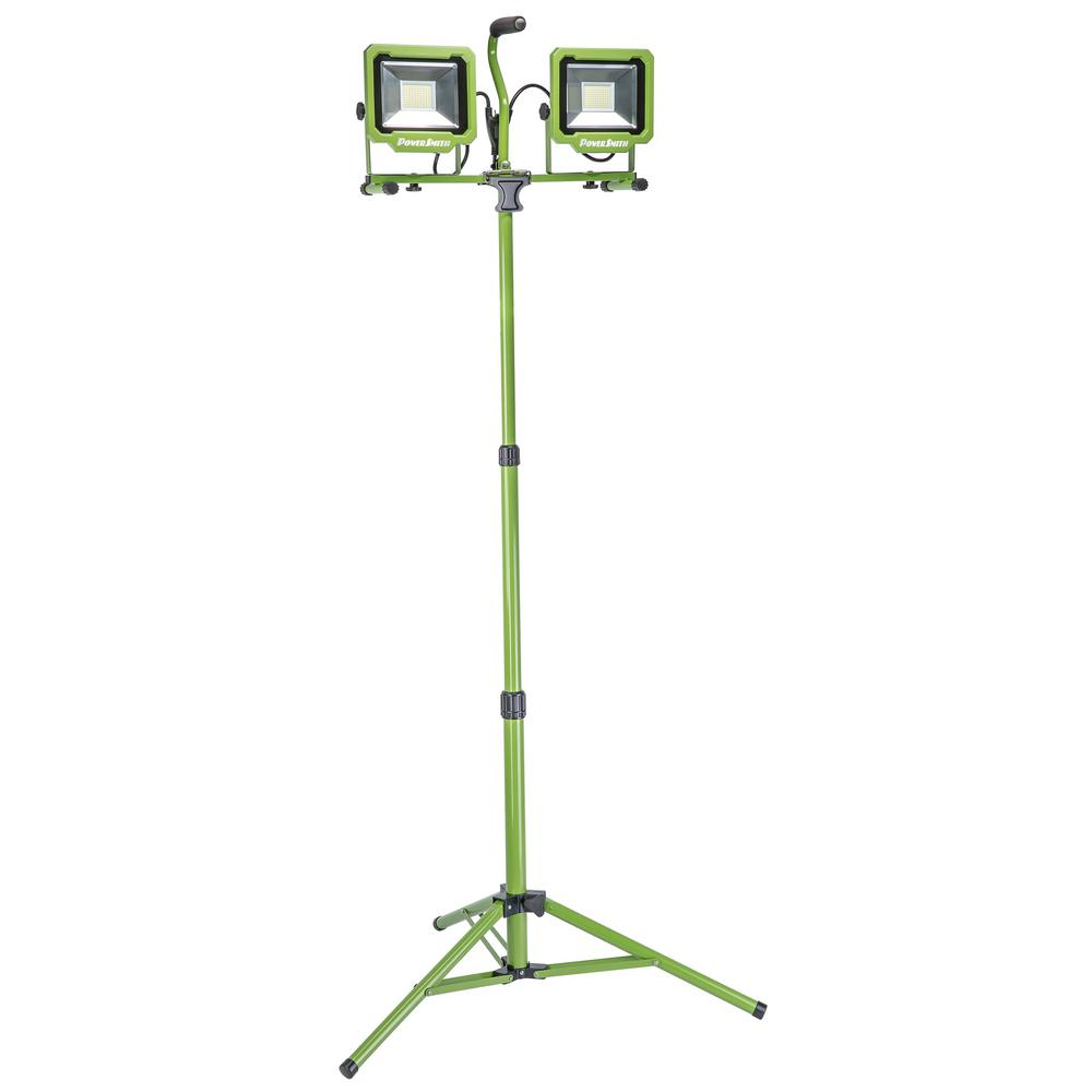 PowerSmith 10,000 Lumens Dual-Head LED Work Light with Tripod