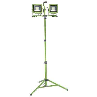 10,000 Lumens Dual-Head LED Work Light with Tripod