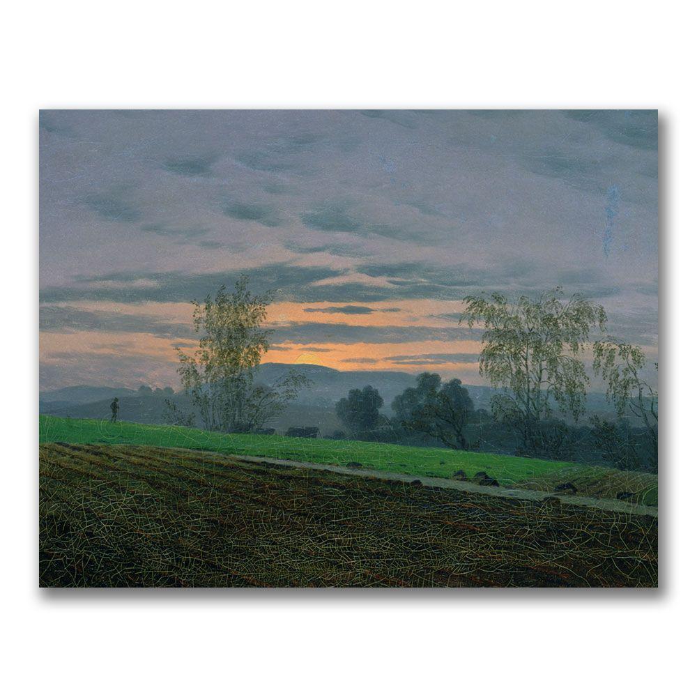 Trademark Fine Art 24 in. x 32 in. Ploughed Field Canvas Art