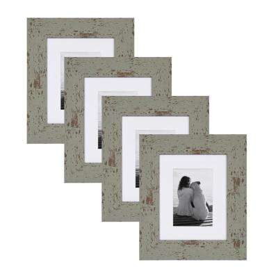 Nor 8x10 matted to 5x7 Teal Picture Frame (Set of 4)