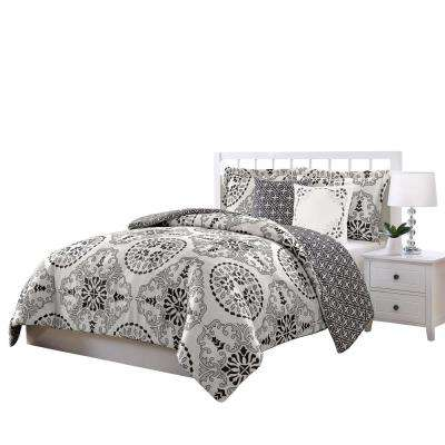 Bailey Gray 5-Piece Reversible King Comforter Set