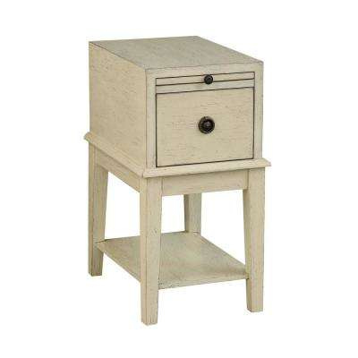 Millstone Textured Ivory 1-Drawer Chairside Table