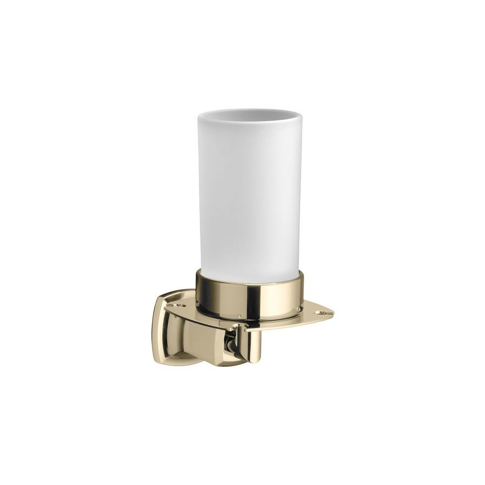 KOHLER Margaux Tumbler and Toothbrush Holder in Vibrant French Gold-DISCONTINUED