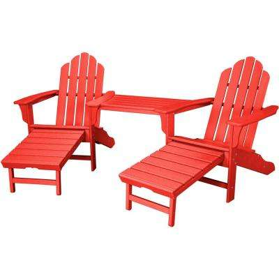 Rio Sunset Red 3 Piece All Weather Plastic Patio