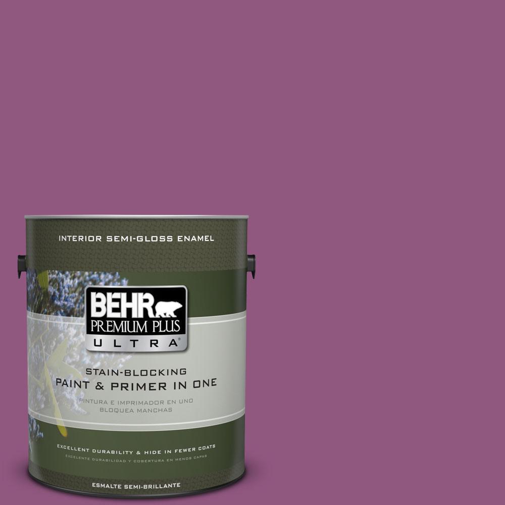 BEHR Premium Plus Ultra 1-gal. #PPU1-18 Peru Semi-Gloss Enamel Interior Paint