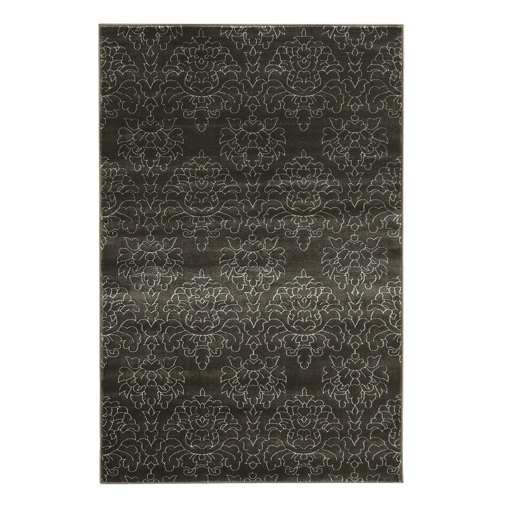 Linon home decor prisma chloe charcoal and white 2 ft x 3 ft indoor area rug rugpa2123 the - Rugs and home decor decor ...
