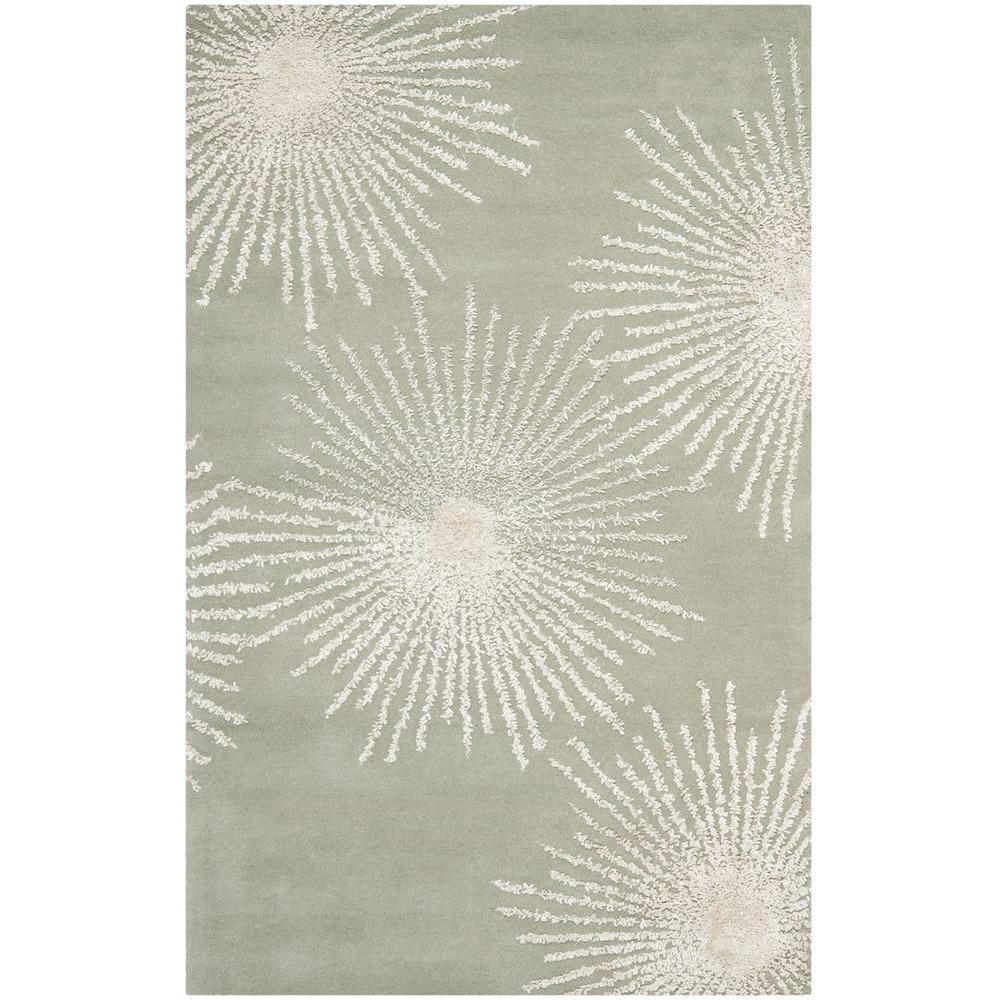 Soho Grey/Ivory Wool 6 ft. x 9 ft. Area Rug