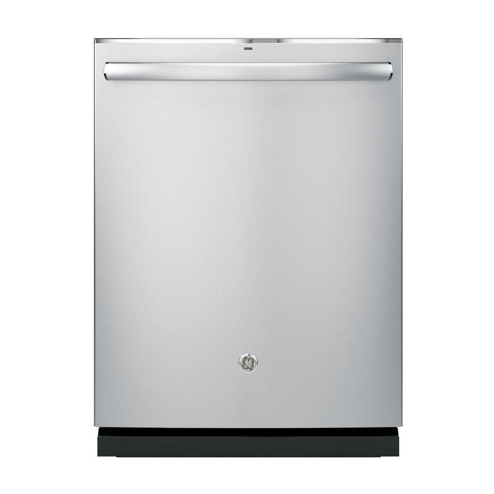 GE Profile Top Control Dishwasher in Stainless Steel with Stainless Steel  Tub and Steam Prewash,