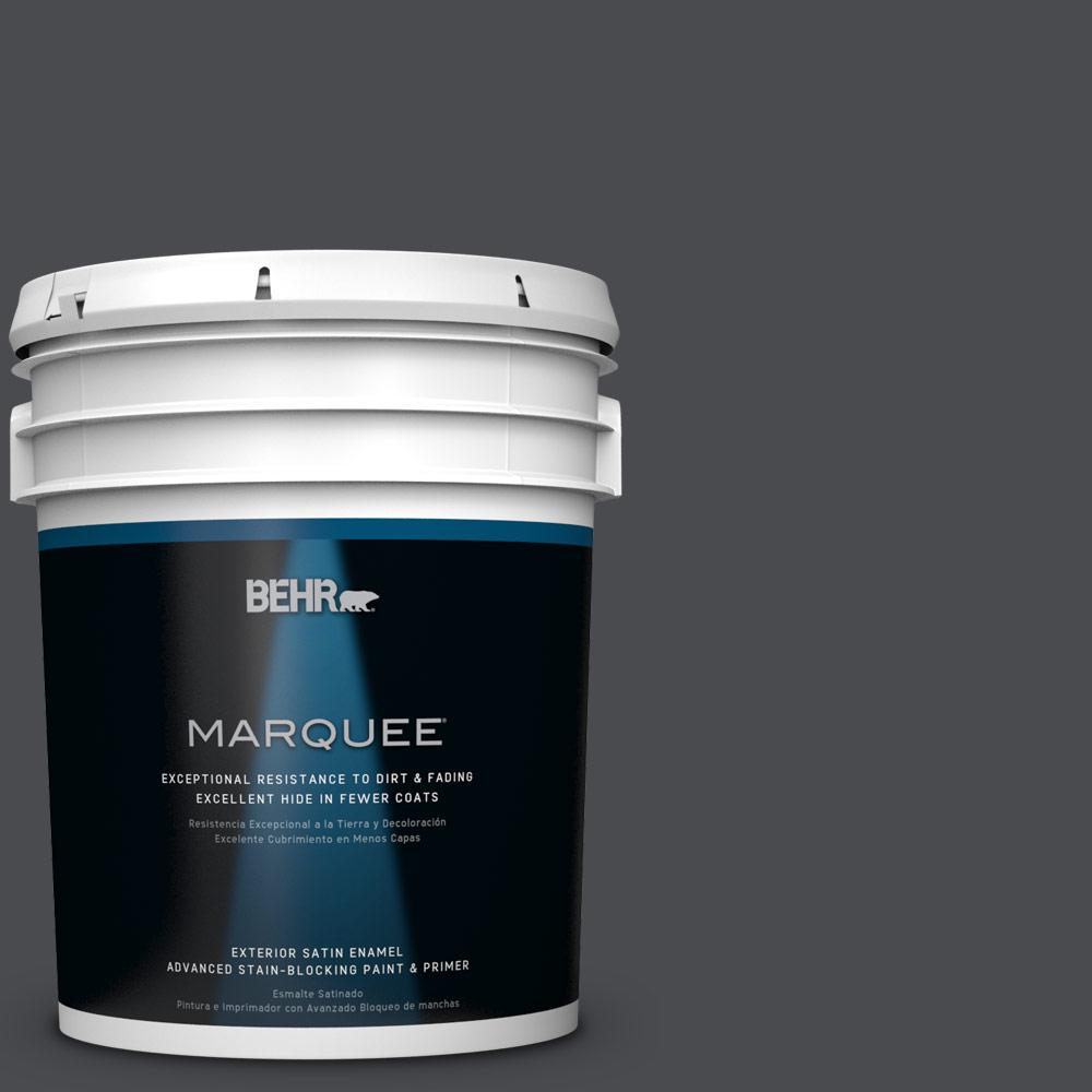 BEHR MARQUEE 5-gal. #N500-7 Night Club Satin Enamel Exterior Paint