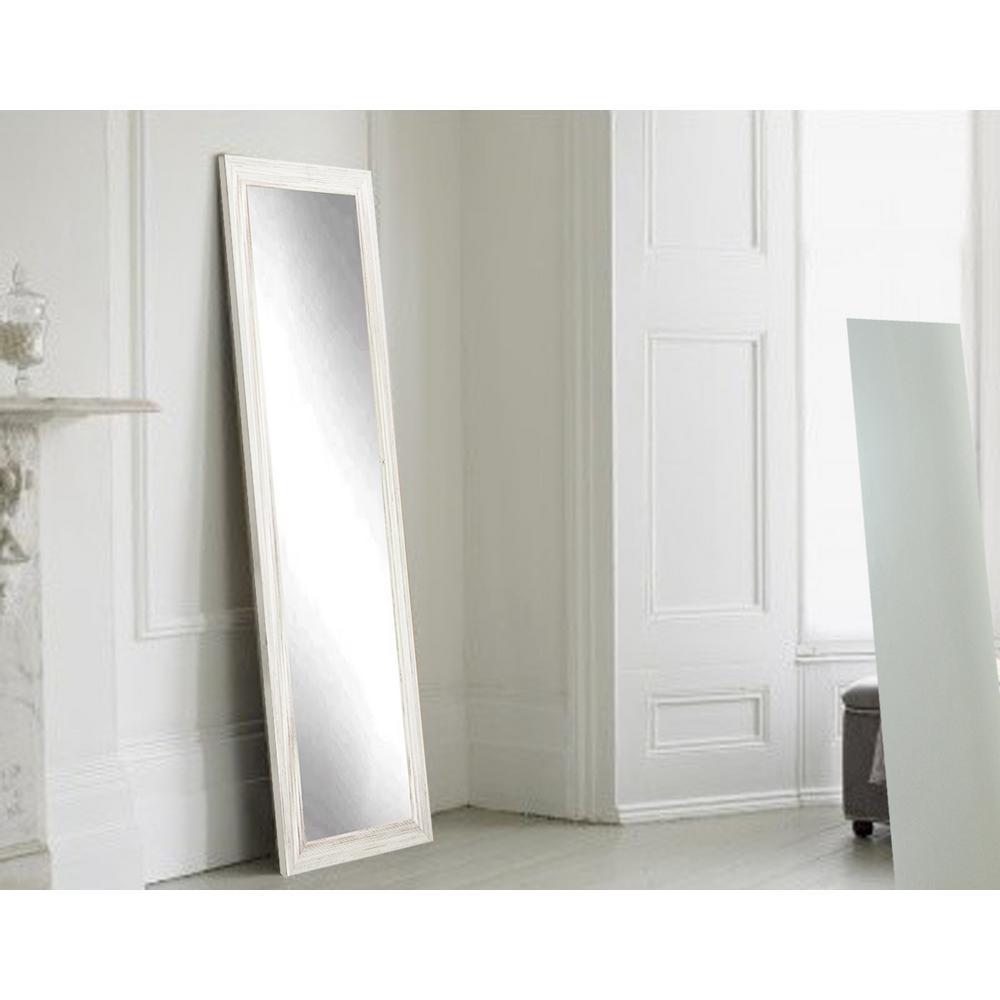 Coastal Whitewood Full Length Framed Mirror-BM18THIN - The Home Depot